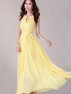 Ericdress  Solid Color Bohemian Maxi Dress Maxi Dresses