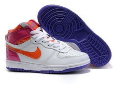 huge selection of c8a01 59884 Chaussures Nike Dunk High Blanc Orange Rose Viole -  Nike Chaussure Pas  Cher,Nike Blazer and Timerland
