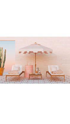 La interiorista @flaminia_pacciani se enamoró de nuestra referencia COACHELLA.  Una piscina y zona exterior exclusivamente femenina. Un oasis en tonos pastel creado por una mujer para mujeres ¡Estamos fascinados con el resultado💗💗💗! Palm Springs, Coachella, Mosaic Floors, Terraces, Oasis, Flooring, Top, Design, Templates