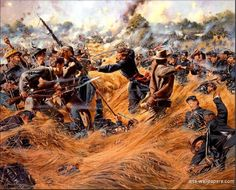 """Saving The Flag"" The Wheat Field, Battle of Gettysburg - July 2, 1863"