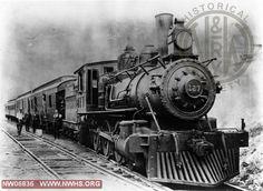 N&W Class I 127 Right 3/4 Train View at Durham,NC 1905