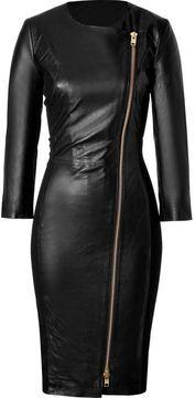 shopstyle.com: By Malene Birger Black Leather Mallisia Dress