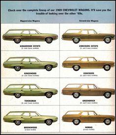 1969 Chevrolet Station Wagons