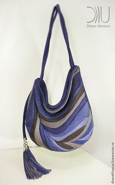 """Купить сумка кожаная """"Перо Антик"""" - в полоску, сумка кожаная, сумка коричневая, подарок женщине"""