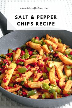 Salt and Pepper Chips - Chinese Takeaway Recipe Easy Chinese Recipes, Asian Recipes, Salt And Chilli Chips, Potato Recipes, Chicken Recipes, Lamb Recipes, Veg Recipes, Bread Recipes, Chinese Fakeaway