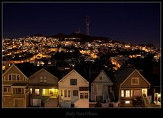 San Francisco at night. San Francisco At Night, San Francisco California, California Dreamin', San Francisco Skyline, San Francisco Architecture, Night Moves, Most Beautiful Cities, Night Time, Dusk