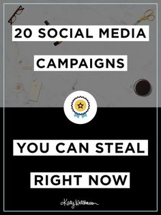 20 Social Media Campaigns You Can Steal Right Now // Are you ready to run clear, creative and actionable social media campaigns? Do you want to look like a big brand but you have a small budget? Download this worksheet and start now!