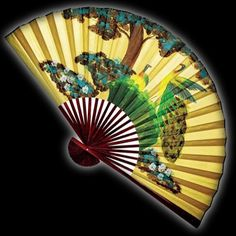 this just might be the one i buy to put above our couch :) Martial Arts Supplies, Ninja Gear, Large Fan, Vintage Fans, Wall Fans, Gold Price, Hand Fan, Oriental, Hand Painted