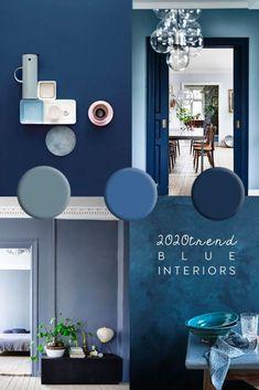 Interior Design Blogs, Italian Interior Design, Interior Paint Colors, Home Design, Interior Decorating, Paint Decor, Decorating Ideas, Decorating Websites, Dulux Paint Colours Blue