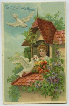 vintage postcard Valentine's Day