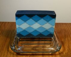 """"""" Almost Argyle""""              Here is my entry for the June Great Cakes Soap Challenge: Sculpted Layers. If you..."""
