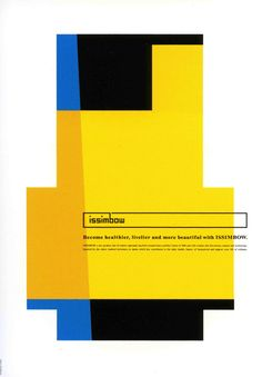 Japanese Poster Design: Structure and geometrics. Shin Matsunaga design for ISSIMBOW, Inc. - Gurafiku: Japanese Graphic Design