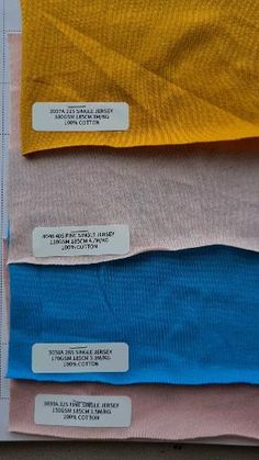 4 TYPES OF SINGLE JERSEY 1. Yarn Count 21S, 180gsm, 3m/KG 2. Yarn Count 40S, 110gsm, 4.7m/KG 3. Yarn Count 26S, 170gsm, 3.1m/KG 4. Yarn Count 32S, 150gsm, 3.5m/KG Fabric, Cotton, T Shirt, Collection, Tejido, Supreme T Shirt, Tela, Tee Shirt, Cloths