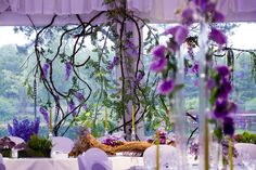Mysterious Violet Wedding Reception, Poland by artsize.pl