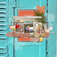 great #beach #summer #scrapbook page by kayleigh at DesignerDigitals.com #shopDesignerDigitals