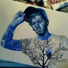 Blue Josh Dun |-/ Clique Art