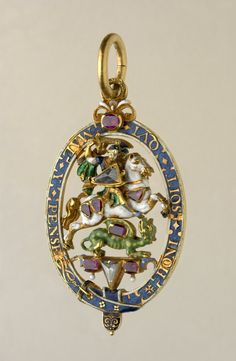 Lesser George of the Order of the Garter, 1628-1629, made for William Compton, 1st Earl of Northampton. Obv.