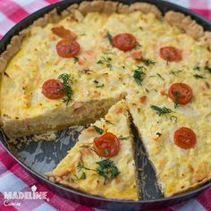Tarta cu somon si conopida / Salmon and cauliflower tart