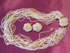 BRIDAL JEWELRY  Vintage Clear Seed Bead by EyecatchersLuxuries