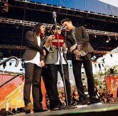 Vic Fuentes, Jaime Preciado, and Tony Perry if Pierce The Veil #APMAS