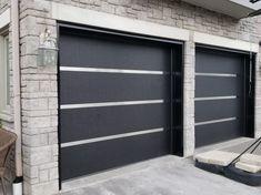 24 Best Of Garage Door Color Ideas & Here Are Tips For Choosing Your Garage Door Color 20 - topzdesign . Black Garage Doors, Garage Door Colors, Modern Garage Doors, Best Garage Doors, Garage Door Styles, Garage Door Design, Modern Door, Contemporary Garage Doors, Modern Exterior Doors