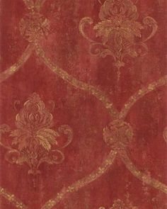 Dining room wallpaper I want to do a red and gold damask wall stencil in my dining room.