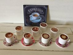 Baking In Miniature: Coffee Art & Sewing Accessories