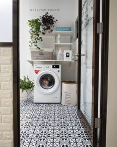 Outdoor Laundry Rooms, Small Laundry Rooms, Laundry Room Storage, Laundry Area, Laundry Room Design, Bathroom Design Small, Laundy Room, Minimal House Design, Laundry Room Layouts