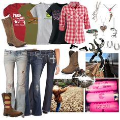 Love these country girl outfits Country Girl Outfits, Country Girl Style, Country Fashion, Cowgirl Outfits, Country Girls, Country Life, Redneck Girl Outfits, Texas Fashion, Boot Outfits