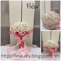 Pink Pearl Bouquet by Fleur