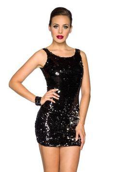 jowiha®  Hochwertiges Pailletten Damen Minikleid