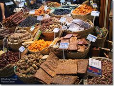 Dried Fruit Snacks, Egyptian Bazaar, Istanbul, Turkey