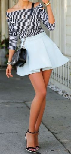 Stripes + baby blue - Fashion and Love