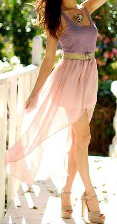 flowy high low dress