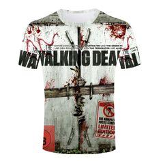 The Walking Dead T Shirt - Men 3D Printed High Quality Crew Neck Short Sleeve Tees The Walker Store    https://thewalkerstore.com/men-3d-printed-high-quality-crew-neck-short-sleeve-tees/