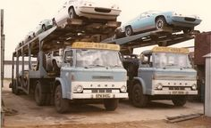 View topic - car transporter companys old and new. Old Vintage Cars, Vintage Vans, Vintage Trucks, Cool Trucks, Big Trucks, Tow Truck, Car Movers, Truck Transport, Old Lorries