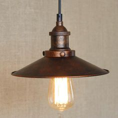 Loft Vintage Rust Color Pendant Lamp E27 Iron Metal Retro Northern Europe Industrial Style Edison Pendant Lights