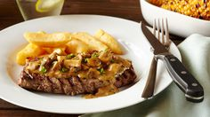 STEAK DIANE - Mushrooms, brandy, cream and Worcestershire sauce make the base of this classic steak dish served in a creamy sauce. Steak Diane is an absolute classic dish that the whole family will love! Use Knorr Beef Stock Pot to greatly enhance the flavour of this dish.