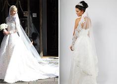 Get a veil like Nicky Hilton with our C454C corded edge mantilla veil.