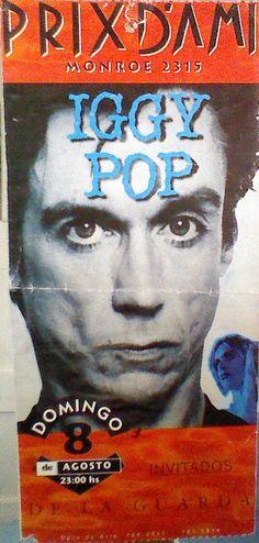 Iggy Pop Ticket del powershow que dio en el legendario Prix D`Ami de Belgrano