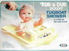 Rub-a-Dub Dolly! She went into the bath with you and had a shower on her yellow tugboat