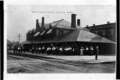 Chicago, Rock Island & Pacific Railroad depot, Wichita, Kansas, c. 1910 (KSHS)