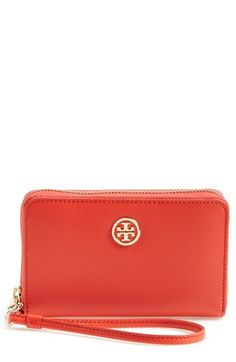 543b6387f Tory Burch  Robinson  Smartphone Wristlet available at  Nordstrom  155 Zip  Around Wallet