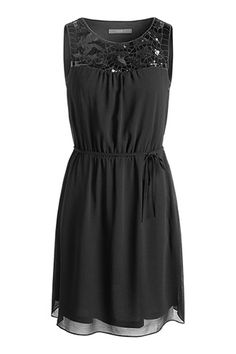 Esprit / flowing chiffon dress with sequins