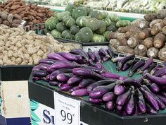Chinese eggplant--in the foreground--is common in Vietnamese Home Cooking
