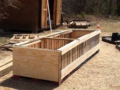 our first ever raised veggie garden bed made from FREE pallets