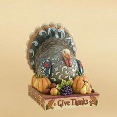 JIM SHORE TURKEY CENTERPIECE