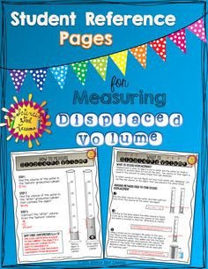 This FREE reference was designed to help students learn the steps to measuring displaced volume. They can be used a variety of ways and I have carefully crafted them to be very step-by-step and detailed. Enjoy!