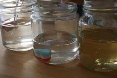 ¡Gominolas al agua! - experCiencia. Experimentar que passa posant xuxes en remull.