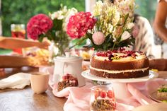 Support the Pink Ribbon Breakfast to help kiwis affected by breast cancer High Tea, Vanilla Cake, Cheesecake, Ribbon, Breakfast, Ethnic Recipes, Desserts, Pink, Cheesecakes